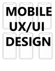 mobile ux/ui design: user interface and user experience design sketchpad mock ups for app designers and developers (8.5x11) 120 Pages Cover Image