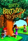 Deep Blue Kids Happy Birthday Postcard (Pkg of 25) Cover Image