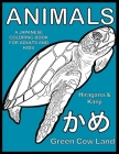 Animals A Japanese Coloring Book For Adults And Kids Cover Image