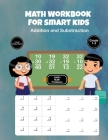 Math Workbook for Smart Kids: Addition and Substraction - Level Easy - Hard - Grade 1-3 - 1400 + Math Problems Cover Image