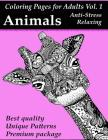 Coloring Pages For Adults: ANIMALS: Anti-Stress And Mind Relaxing Package Cover Image